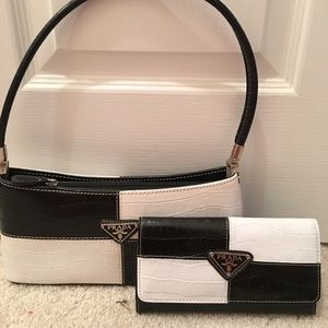 Prada pocketbook and wallet